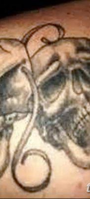 фото тату две маски от 21.12.2017 №057 – tattoo two masks – tatufoto.com