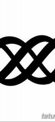 фото тату двойная бесконечность от 09.12.2017 №021 – tattoo double infinity – tatufoto.com