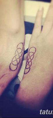 фото тату двойная бесконечность от 09.12.2017 №042 – tattoo double infinity – tatufoto.com