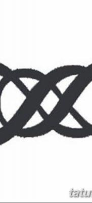 фото тату двойная бесконечность от 09.12.2017 №088 – tattoo double infinity – tatufoto.com