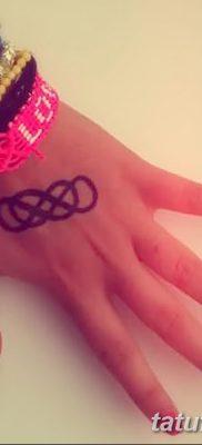 фото тату двойная бесконечность от 09.12.2017 №097 – tattoo double infinity – tatufoto.com