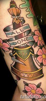 фото тату колокол от 19.12.2017 №006 – tattoo bell – tatufoto.com