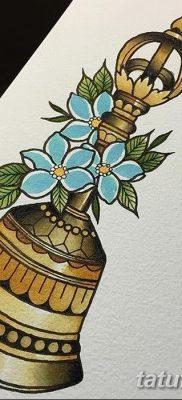 фото тату колокол от 19.12.2017 №029 – tattoo bell – tatufoto.com