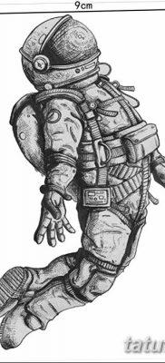 фото тату космонавт от 25.12.2017 №005 – cosmonaut tattoo – tatufoto.com