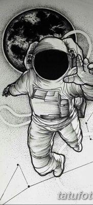 фото тату космонавт от 25.12.2017 №011 – cosmonaut tattoo – tatufoto.com