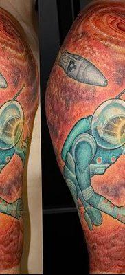 фото тату космонавт от 25.12.2017 №012 – cosmonaut tattoo – tatufoto.com