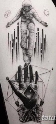 фото тату космонавт от 25.12.2017 №013 – cosmonaut tattoo – tatufoto.com