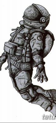 фото тату космонавт от 25.12.2017 №014 – cosmonaut tattoo – tatufoto.com