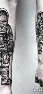 фото тату космонавт от 25.12.2017 №017 – cosmonaut tattoo – tatufoto.com
