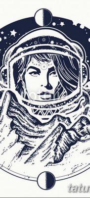 фото тату космонавт от 25.12.2017 №021 – cosmonaut tattoo – tatufoto.com