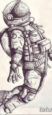 фото тату космонавт от 25.12.2017 №029 – cosmonaut tattoo – tatufoto.com