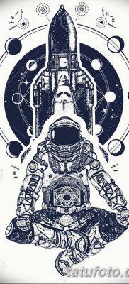 фото тату космонавт от 25.12.2017 №037 – cosmonaut tattoo – tatufoto.com 3623426