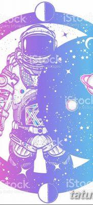 фото тату космонавт от 25.12.2017 №039 – cosmonaut tattoo – tatufoto.com