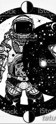 фото тату космонавт от 25.12.2017 №040 – cosmonaut tattoo – tatufoto.com