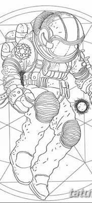 фото тату космонавт от 25.12.2017 №041 – cosmonaut tattoo – tatufoto.com