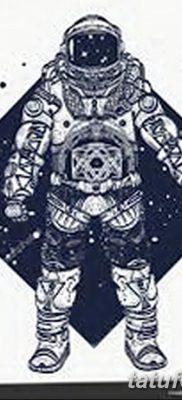 фото тату космонавт от 25.12.2017 №097 – cosmonaut tattoo – tatufoto.com