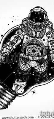 фото тату космонавт от 25.12.2017 №110 – cosmonaut tattoo – tatufoto.com