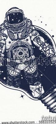 фото тату космонавт от 25.12.2017 №111 – cosmonaut tattoo – tatufoto.com