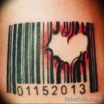 фото тату штрих-код от 21.12.2017 №007 - tattoo barcode - tatufoto.com