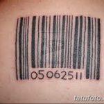 фото тату штрих-код от 21.12.2017 №011 - tattoo barcode - tatufoto.com