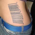 фото тату штрих-код от 21.12.2017 №014 - tattoo barcode - tatufoto.com