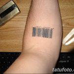 фото тату штрих-код от 21.12.2017 №025 - tattoo barcode - tatufoto.com