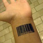 фото тату штрих-код от 21.12.2017 №052 - tattoo barcode - tatufoto.com