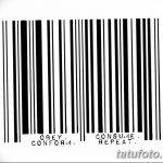 фото тату штрих-код от 21.12.2017 №067 - tattoo barcode - tatufoto.com