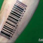 фото тату штрих-код от 21.12.2017 №075 - tattoo barcode - tatufoto.com