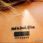 фото тату штрих-код от 21.12.2017 №084 - tattoo barcode - tatufoto.com