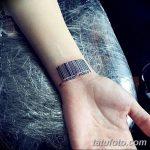 фото тату штрих-код от 21.12.2017 №085 - tattoo barcode - tatufoto.com