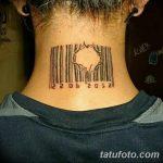 фото тату штрих-код от 21.12.2017 №090 - tattoo barcode - tatufoto.com