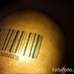 фото тату штрих-код от 21.12.2017 №094 - tattoo barcode - tatufoto.com