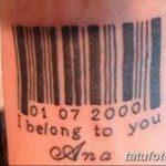 фото тату штрих-код от 21.12.2017 №100 - tattoo barcode - tatufoto.com