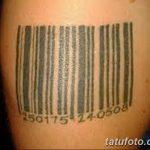 фото тату штрих-код от 21.12.2017 №107 - tattoo barcode - tatufoto.com