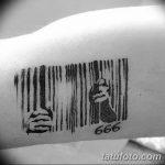 фото тату штрих-код от 21.12.2017 №114 - tattoo barcode - tatufoto.com