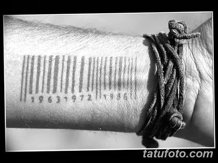 фото тату штрих-код от 21.12.2017 №140 - tattoo barcode - tatufoto.com