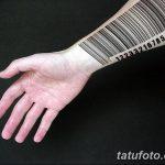 фото тату штрих-код от 21.12.2017 №147 - tattoo barcode - tatufoto.com