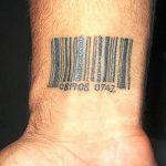 фото тату штрих-код от 21.12.2017 №157 - tattoo barcode - tatufoto.com