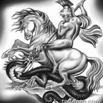 фото эскиз тату георгий победоносец от 28.12.2017 №047 - St. George - tatufoto.com