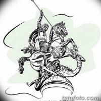 Эскизы тату «Георгий Победоносец»
