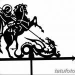 фото эскиз тату георгий победоносец от 28.12.2017 №094 - St. George - tatufoto.com