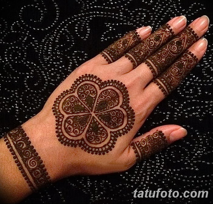 фото Мехенди на пальцах рук от 26.12.2017 №005 - Mehendi on fingers of han - tatufoto.com