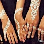 фото Белое мехенди от 13.01.2018 №041 - White mehendi - tatufoto.com