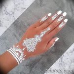 фото Белое мехенди от 13.01.2018 №065 - White mehendi - tatufoto.com