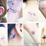фото Маленькие тату для девушек от 26.01.2018 №088 - Little tattoos for girls - tatufoto.com
