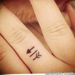 фото Маленькие тату для девушек от 26.01.2018 №096 - Little tattoos for girls - tatufoto.com