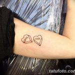 фото Маленькие тату для девушек от 26.01.2018 №113 - Little tattoos for girls - tatufoto.com