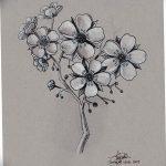 фото Эскизы тату Сакура от 27.01.2018 №003 - Sketches of Sakura tattoo - tatufoto.com