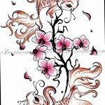 фото Эскизы тату Сакура от 27.01.2018 №010 - Sketches of Sakura tattoo - tatufoto.com